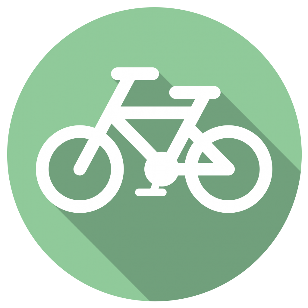 bike with green background icon