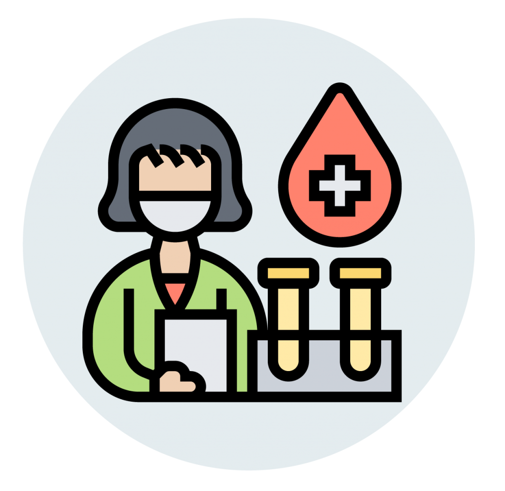 woman conducting lab tests icon