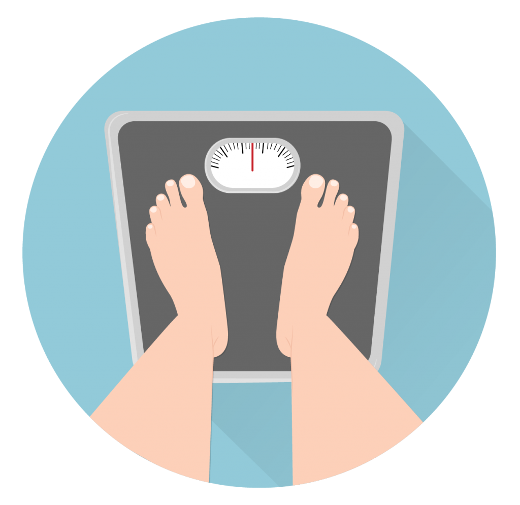 feet and weight scale icon